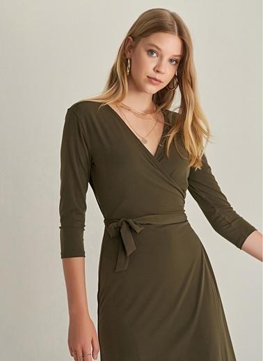 NGSTYLE Anvelop Örme Elbise Haki